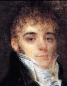 Miniature portrait of Simón Bolívar painted in Paris, 1804 or 1805