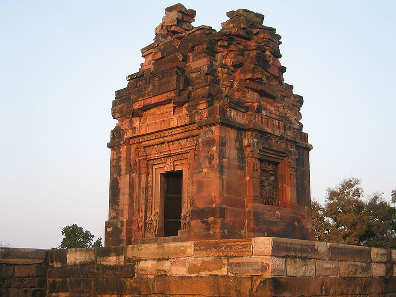 The 6th century late Gupta period Dashavatara temple Deogarh, Uttar Pradesh at sunset.