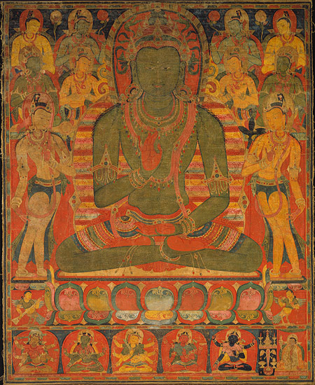 """Buddha Amoghasiddhi with Eight Bodhisattvas [Tibet (Central regions)] (1991.74)"". In Heilbrunn Timeline of Art History. New York: The Metropolitan Museum of Art, 2000–. http://www.metmuseum.org/toah/works-of-art/1991.74 (September 2008)"