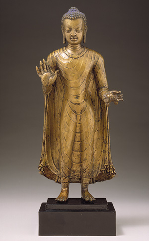 "Buddha statue from the Gupta Period. ""Buddha [India] (69.222)"". In Heilbrunn Timeline of Art History. New York: The Metropolitan Museum of Art, 2000–. http://www.metmuseum.org/toah/works-of-art/69.222 (October 2006)"