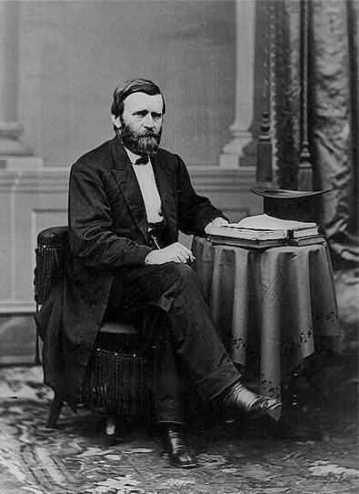 Matthew Brady's portrait of President Ulysses S. Grant, ca 1869-1877.