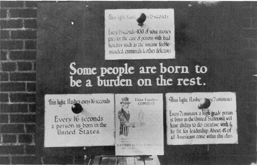 Eugenics advocacy poster from the Philadelphia Sesqui-Centennial Exhibition, 1926.