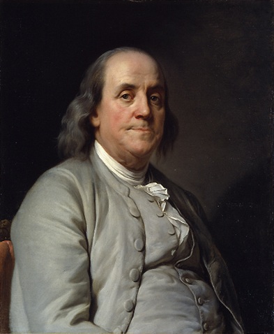 Ben Franklin, 1785 (Wikimedia Commons)