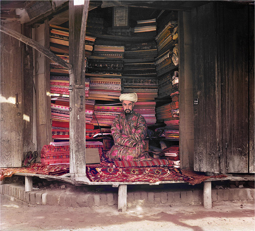 Turkish merchant in Samarkand (now in Uzbekistan). Prokudin-Gorskii collection, c. 1905-1914.