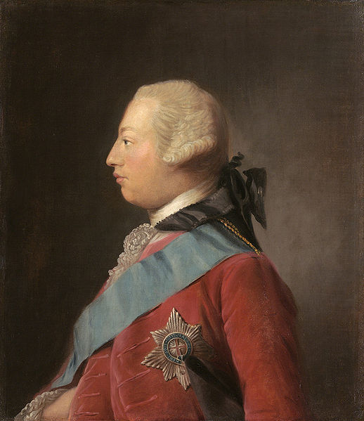 1762 portrait of King George III (Image courtesy of Wikimedia Commons)