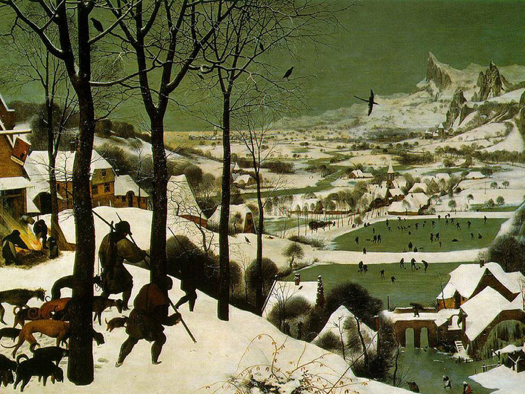 "Peter Bruegel the Elder, ""Hunters in the Snow"""