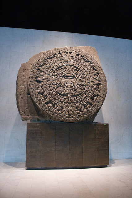 Circular calendar of the Mexica (Aztec), Museo Nacional de Antropologia, Mexico DF.