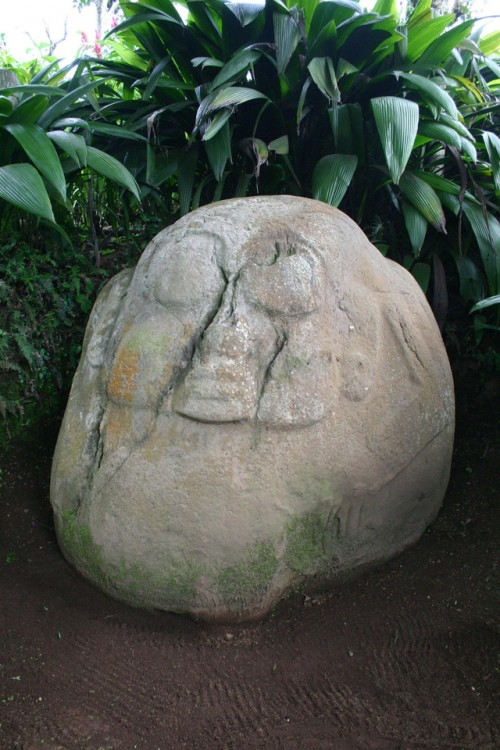 Pot belly monument from the site of Santa Leticia, El Salvador (Photo by Michael Love).