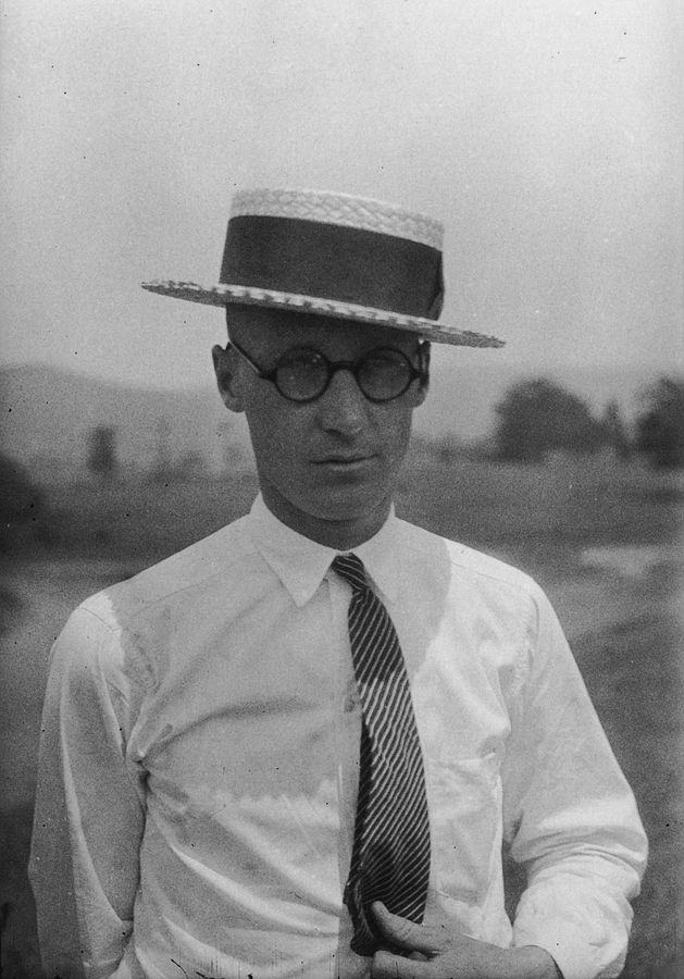 Photograph of John Scopes taken one month before the Tennessee v. John T. Scopes Trial. From the Smithsonian Institution Archives.