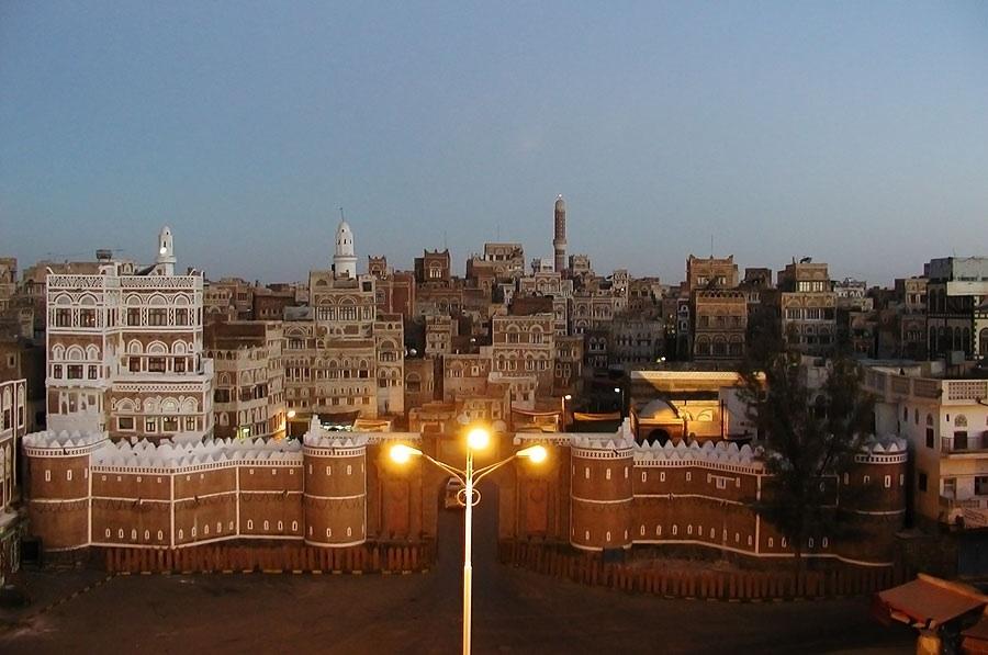 The Grand Mosque of Sana'a, Yemen. (Wikimedia Commons, User: Yarinya).