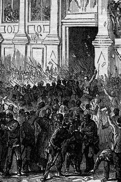Revolutionary units of the National Guard seize the Hotel de Ville, October 31, 1870