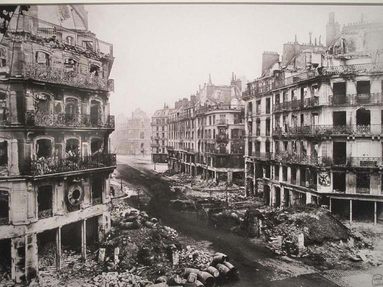 The Rue de Rivoli after the attack on the Paris Commune