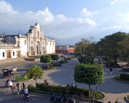 The Plaza Mayor of Santiago de Guatemala, where Diego was sentenced to be whipped publicly.