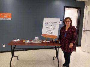 Jeanette Brickman representing ANGS at the Professional Nurses Organization Mixer