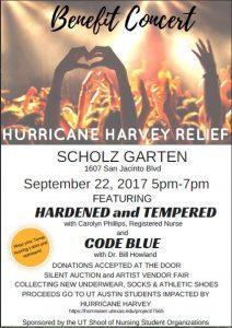Benefit Concert Poster September 22nd 5pm-7pm