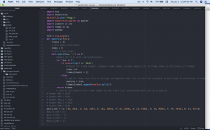 Screenshot of script with improvements