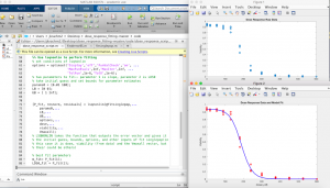 Screenshot of student's work in MATLAB
