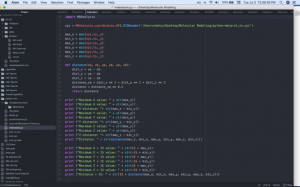 screenshot of script written in python language