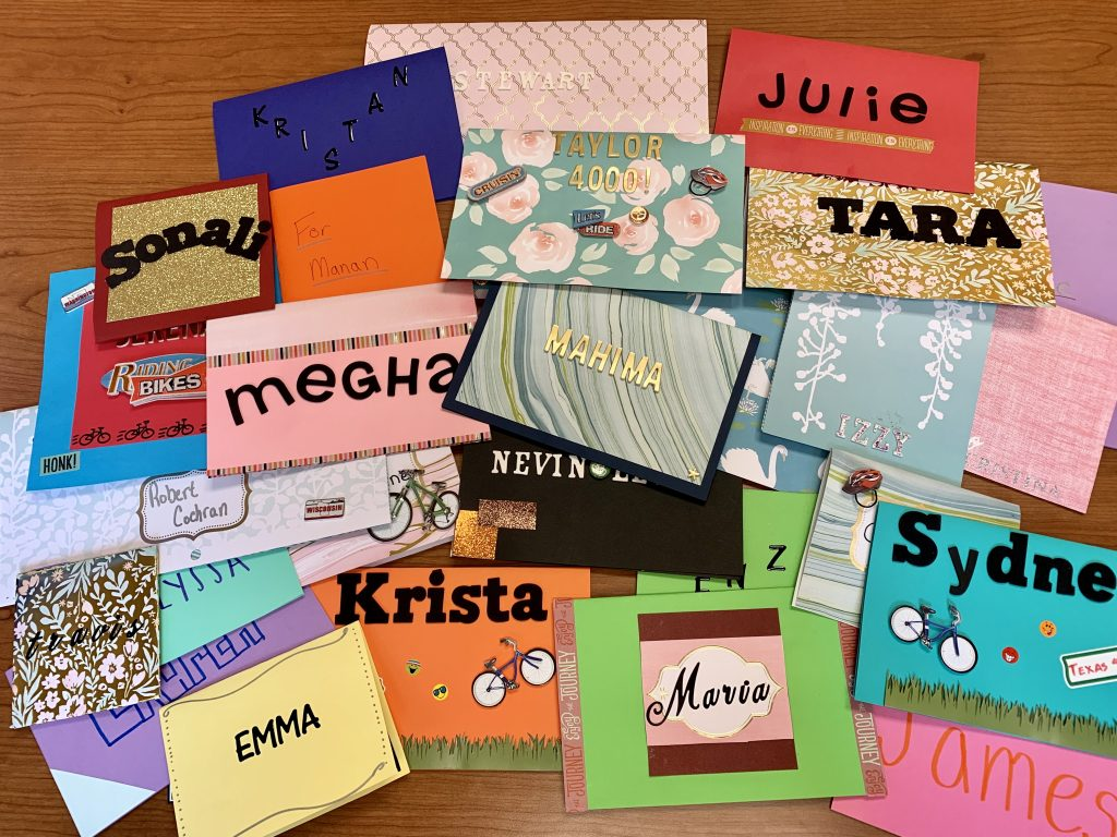 hand made cards for bike riders in texas 4000