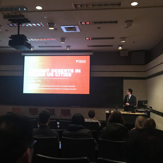 Dr. Junfeng Jiao Presents Research on US Transit Deserts