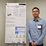 Yantao Huang, GRA for Dr. Kara Kockelman with his poster on autonomous vehicles