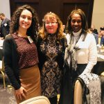 Picture of Inessa Ach, Lisa Loftus-Otway, and Dr. Carol Lewis at the CUTC Reception and Award Banquet
