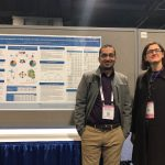 "Picture of Dr. Sciara with her CM2 GRA Mashrur Rahman with his TRB poster, ""The First and Last Mile of Public Transportation: A study of access and egress travel characteristics of commuters living in the suburban areas of Dhaka"""