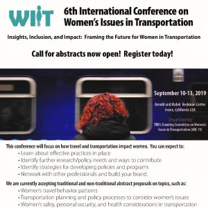 Flyer for the Women's Issues In Transportation Conference