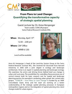 Flyer for the Guest Lecture Event by Dr. Hersperger