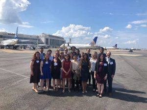 Eno Fellows touring Ronald Reagan Washington National Airport