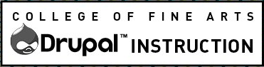 College of Fine Arts Drupal Instruction