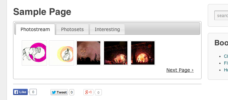 The Flickr Gallery Feature