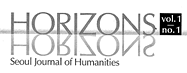 Horizons - Seoul Journal of Humanities, vol.1, no.1