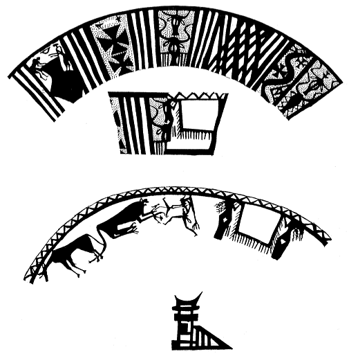 Figure 10. Narrative compositions from Arpachiyah. After I. H. Hijara, The Halaf Period in Northern Mesopotamia, London 1997, p. 79, Pl. XLVIIIA.