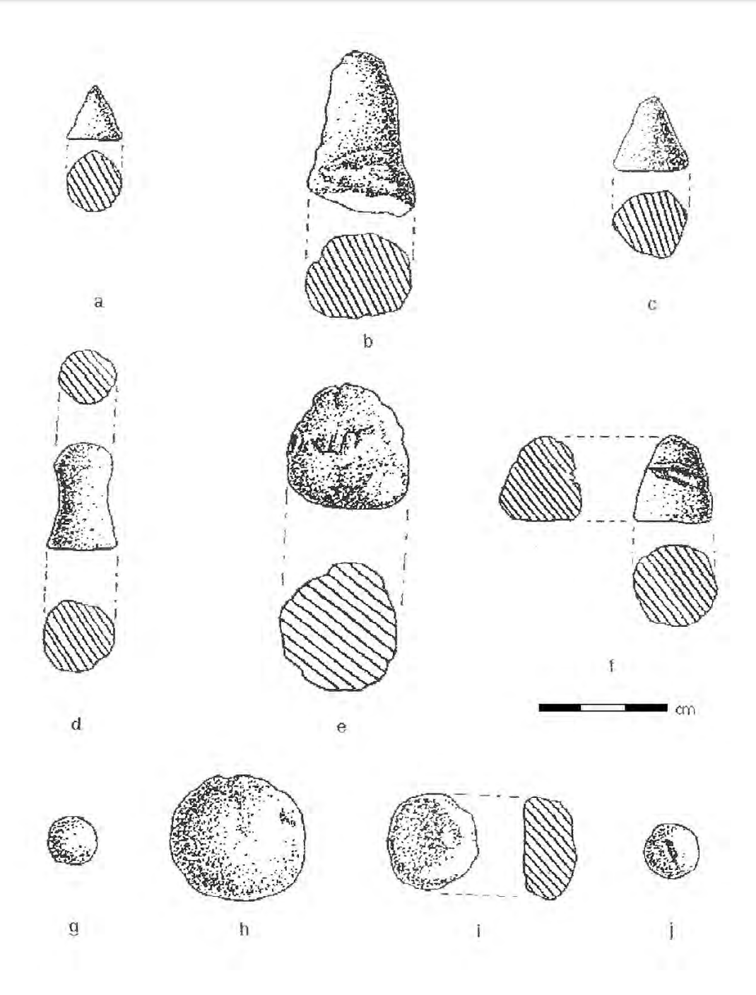 Drawings of profiles and cross sections of the various types