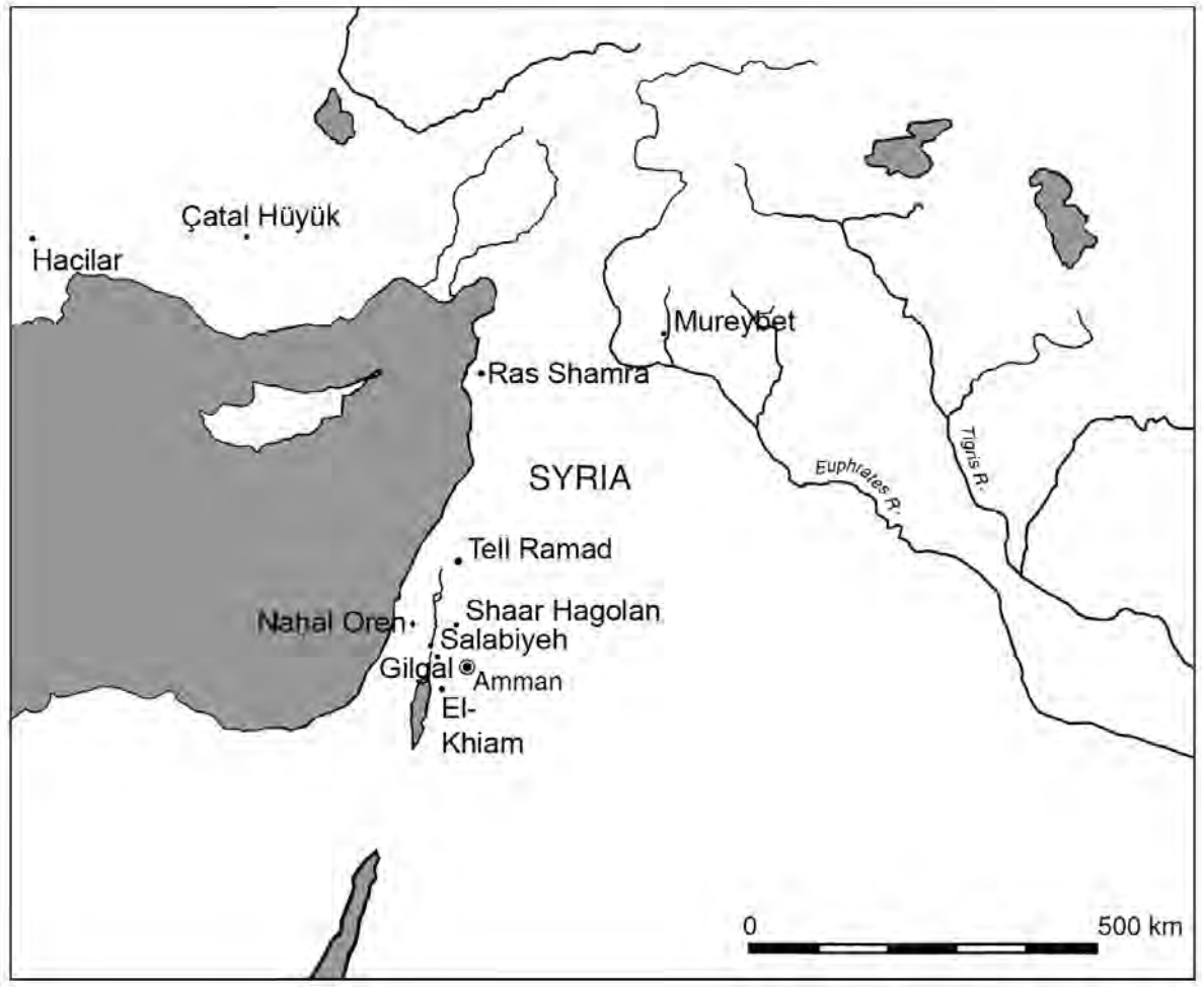 The antecedents of the 'Ain Ghazal female may rather be sought in the early Levantine stone statuary