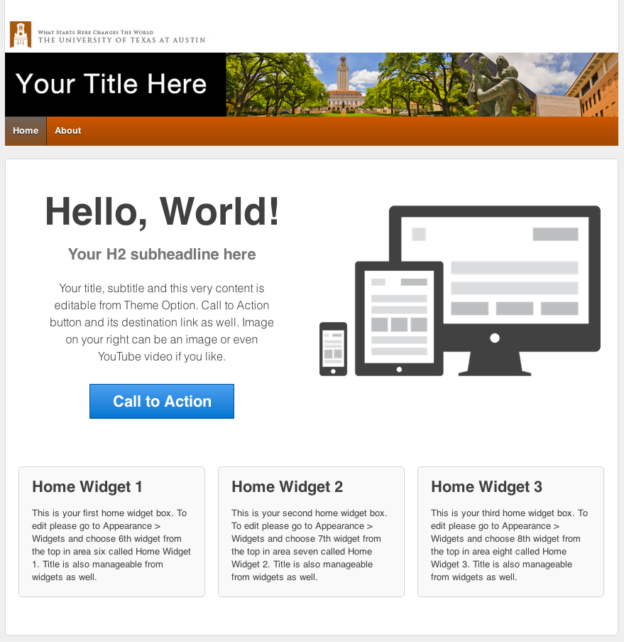 new UT Responsive Small Image theme