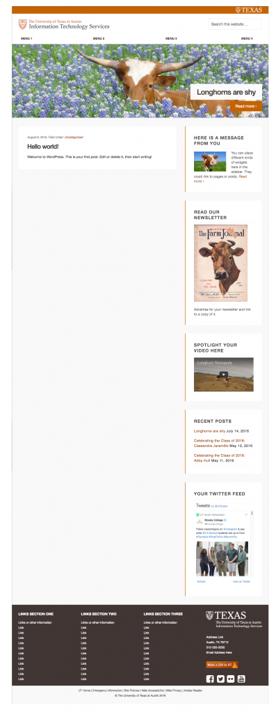 image of UT WordPress Theme