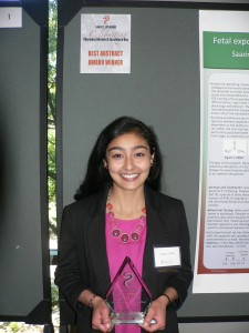 Saazina Afsah, Pharmacy Research Day abstract winner (2014)