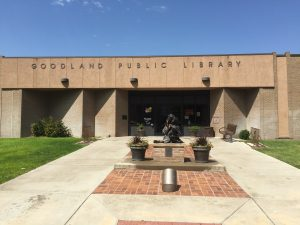 Main entrance of the Goodland Public Library
