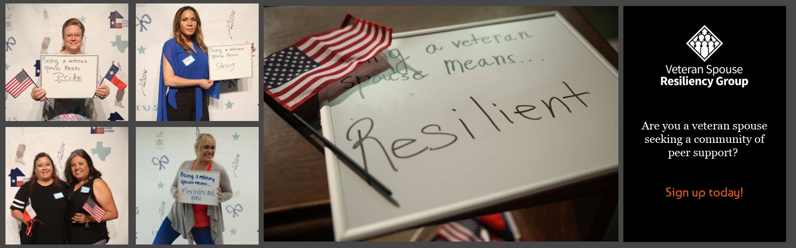 Veteran Spouse Resiliency Group (V-SRG)