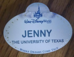My Cast Member name tag.