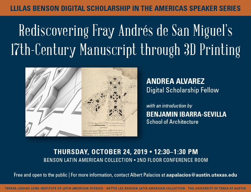 Flyer for the Digital Scholarship in the Americas Series