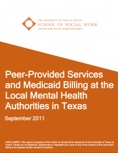 Peer Provided Services And Medicaid Billing At The Local Mental
