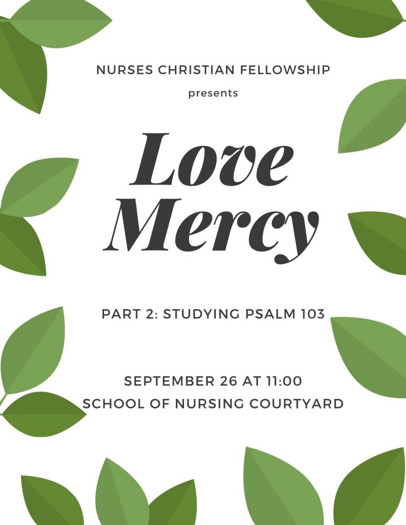 Love mercy bible study on psalm 103 on thursday september 26th in the courtyard