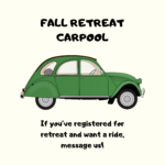 Message us on Facebook to get carpool to retreat