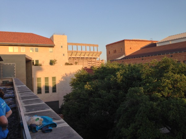 View from atop School of Nursing building, UT Austin