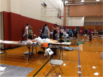 Rec center is scene of disaster drill