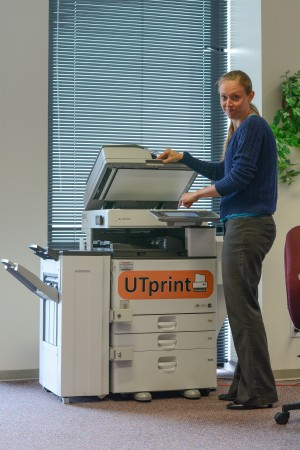 Woman and printer